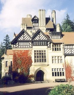 View of Cragside House from the rear courtyard
