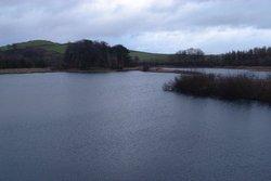 Fisher Tarn Reservoir in winter, Kendal, Cumbria