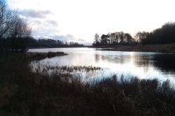 Fisher Tarn Reservoir in winter, Kendal, Cumbria