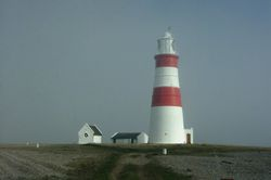 Lighthouse & 'Tombstone' markers