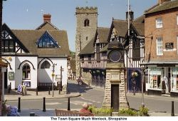 The Town  Square of Much Wenlock, Shropshire