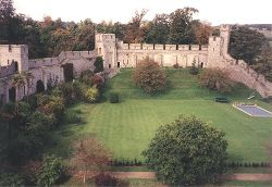 The Private yard at the rear of Arundel Castle.