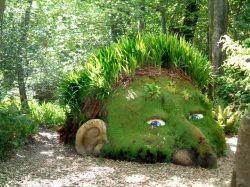 Grass head at Lost Gardens of Heligan