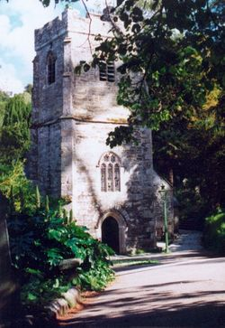 The Picturesque Church at St. Just in Roseland, Cornwall