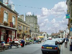 Market day, High Street, Shaftesbury, Dorset