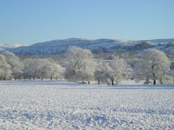 Winter view of Pendle Hill, Lancashire