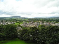 Clitheroe, Lancashire. View from Clitheroe Castle