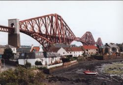 The Forth Railbridge providing a spectacular backdrop to North Queensferry.