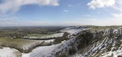 Snow on Ditchling Beacon, East Sussex - March 2005