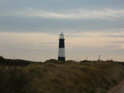 Spurn Lighthouse late on a Winter's afternoon, North Yorkshire