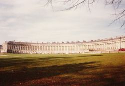 The magnificent Royal Crescent in Bath, Somerset
