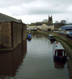 Canalside Skipton looking towards The Church