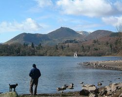 Derwent waters edge, Cumbria