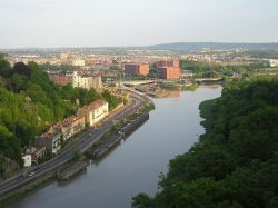 View of Bristol from the suspension bridge