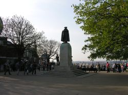 Statue of General James Wolfe, Greenwich Park, Greenwich, Greater London. Spring 2005