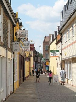 Newmarket, Suffolk. High Street 2003