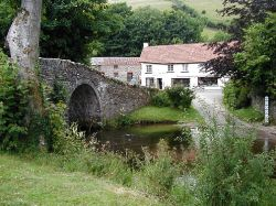 Packhorse Bridge and Ford, and The Buttery, Exmoor, Devon