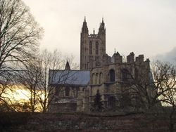 Canterbury Cathedral at Sunset