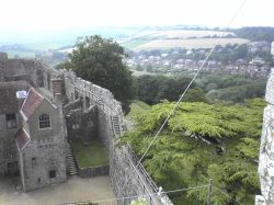 Carisbrooke Castle, on the Isle of Wight