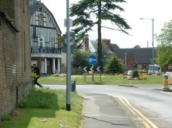 Bedford Road roundabout, Sandy.