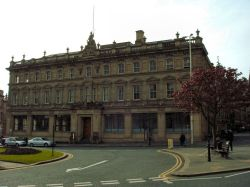 St George's Square, Huddersfield, from the station car park.