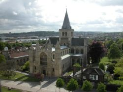 Rochester Cathedral taken from Rochester Castle