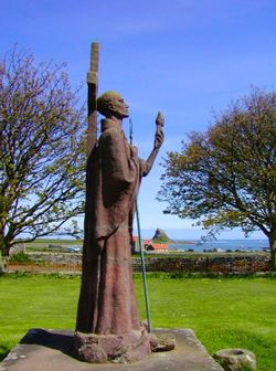 Statue of St Aiden - Lindisfarne - Northumberland