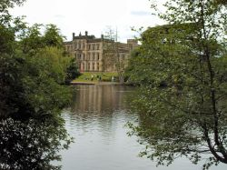 Elvaston Castle, Derby. View across the lake
