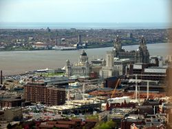 Liverpool and Wirral from the top of the Anglican Cathedral