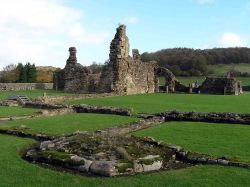 Ruins of Sawley Abbey, Rible valley, Lancashire