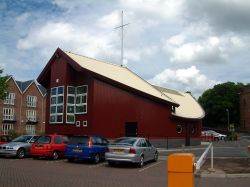 Scout Hut, in the old port area, Chester.  built to the shape of a ship