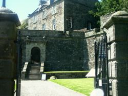 The main gate at Dumbarton Castle