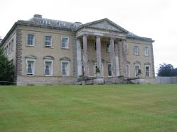 West Front of Broadlands in Romsey, Hampshire. Historic home of Lord Mountbatten