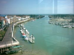 The river Arun from the top of the 'Look and sea' centre tower.
