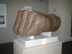British Museum, hand of a Ramses II statue