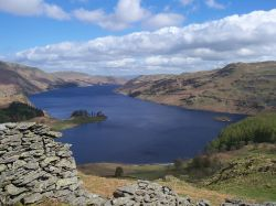 Haweswater from Heron Crag above Riggingdale, N E Lakes