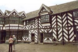 Inner courtyard of Little Moreton Hall, Cheshire