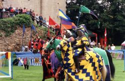 Jousting at Hedingham Castle Essex  26/8/2002