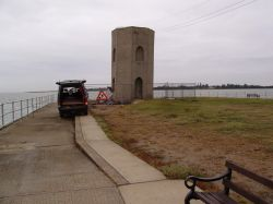 Brightlingsea, Essex. Bateman's Tower, prior to refurbishment.