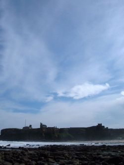 A picture of Tynemouth Priory.  Taken from Tynemouth beach, North Tyneside.