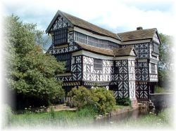 Little Moreton Hall, Cheshire. One of the finest timber-framed manor houses in Britain