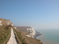 Footpath on the white cliffs at Dover