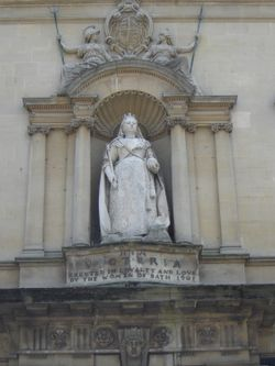 Statue of Queen Victoria in Bath, Somerset.