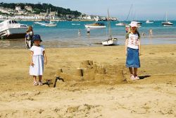 Building sandcastles on Instow Beach, North Devon