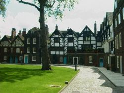 The residential wing of the Tower of London Wallpaper