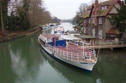 River boat moored for winter,  Oxford
