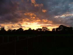 Widnes, Cheshire, early evening Autumn sky