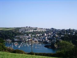 Looking at Polruan from a hill in Fowey, Cornwall