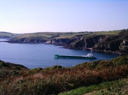 A Ship transporting clay from Polruan, Cornwall