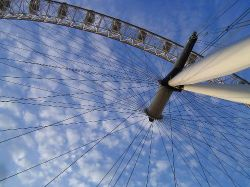 This picture of London Eye was taken in September, 5th, 2005, during my trip to the UK.